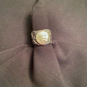 """Silpada sterling silver pearl """"mermaid"""" ring"""